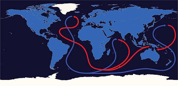 Thermohaline Circulation Thermohaline Circulation.  tide stock illustrations