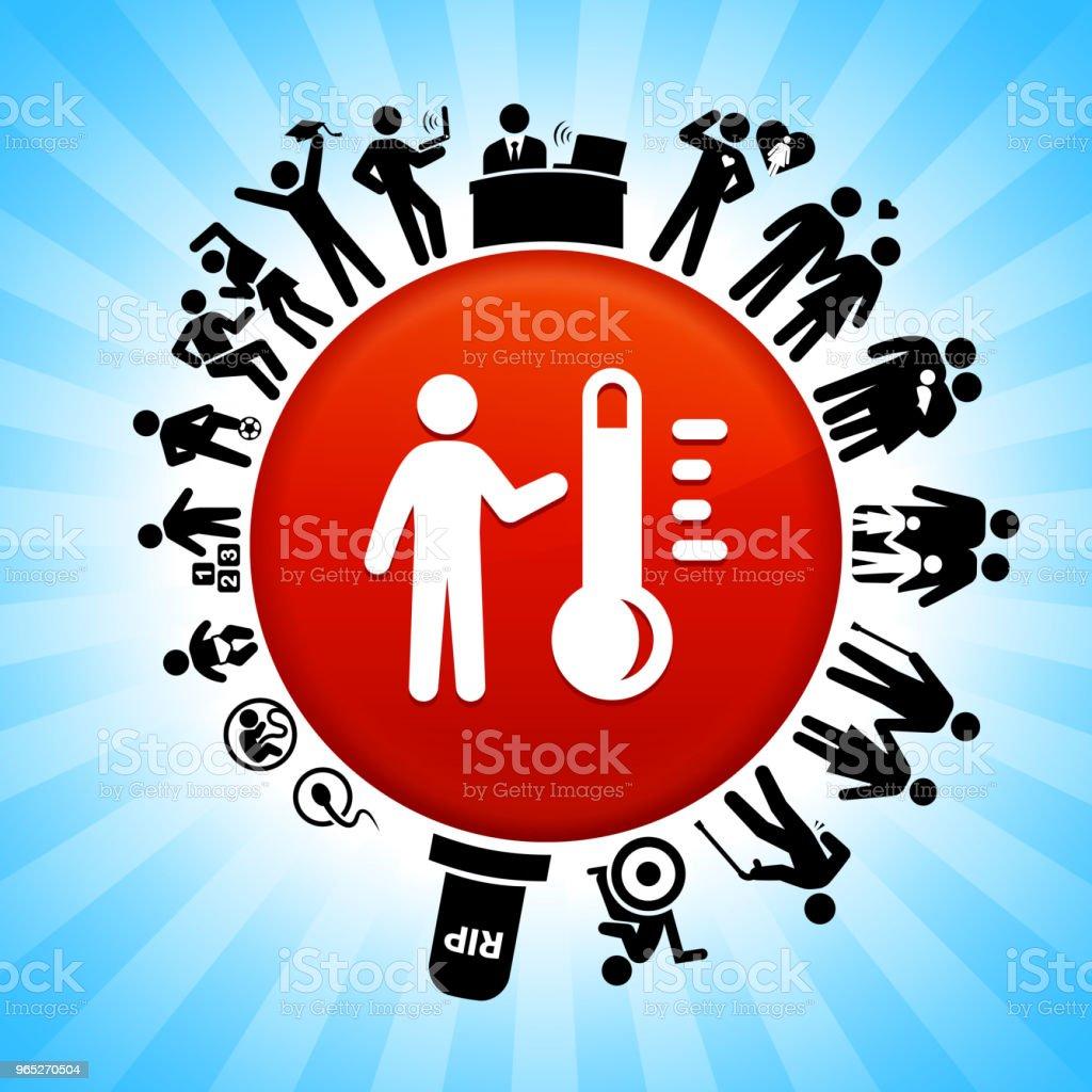 Thermometer and Stickfigure  Lifecycle Stages of Life Background thermometer and stickfigure lifecycle stages of life background - stockowe grafiki wektorowe i więcej obrazów adolescencja royalty-free
