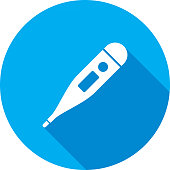 istock Thermometer Icon Silhouette 898619684