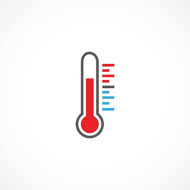 illustrations, cliparts, dessins animés et icônes de thermomètre icône - chaleur