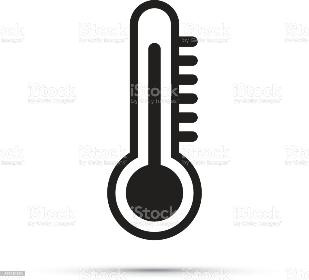thermometer icon vector art illustration