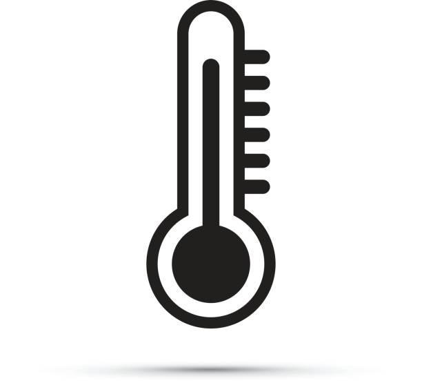 stockillustraties, clipart, cartoons en iconen met thermometer-pictogram - klimaat