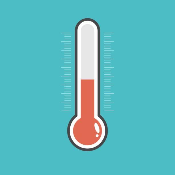 stockillustraties, clipart, cartoons en iconen met thermometer pictogram. - thermometer