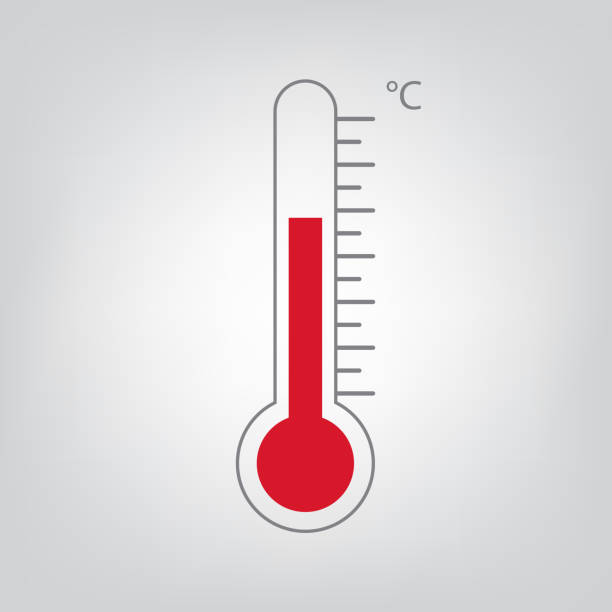 stockillustraties, clipart, cartoons en iconen met thermometer-pictogram - thermometer