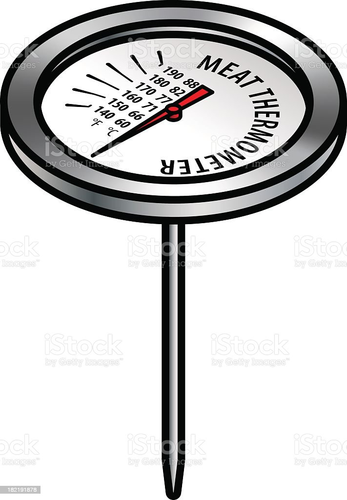 Thermometer illustration on white background royalty-free thermometer illustration on white background stock vector art & more images of baking