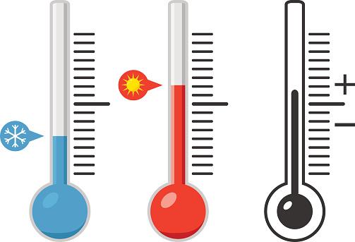 Thermometer Temperatur Messen Sie Die Temperatur Stock ...
