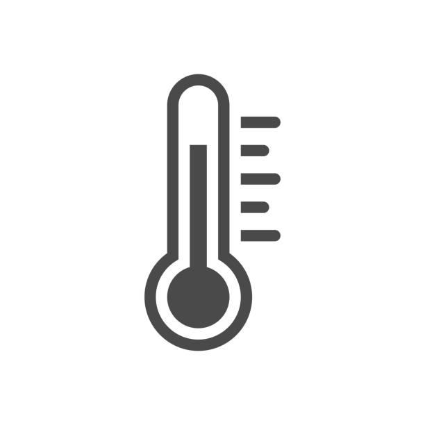 illustrations, cliparts, dessins animés et icônes de thermomètre. illustration de stock de conception plate de vecteur - chaleur