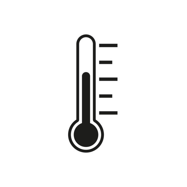 Thermometer . Vector Flat design Thermometer . Vector Flat design fever stock illustrations