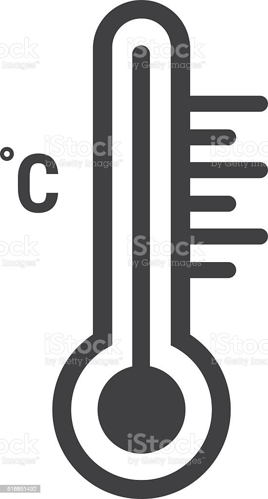 thermometer vector icon vector art illustration