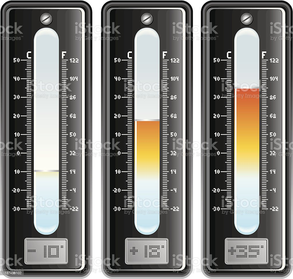 Thermometer royalty-free thermometer stock vector art & more images of celsius