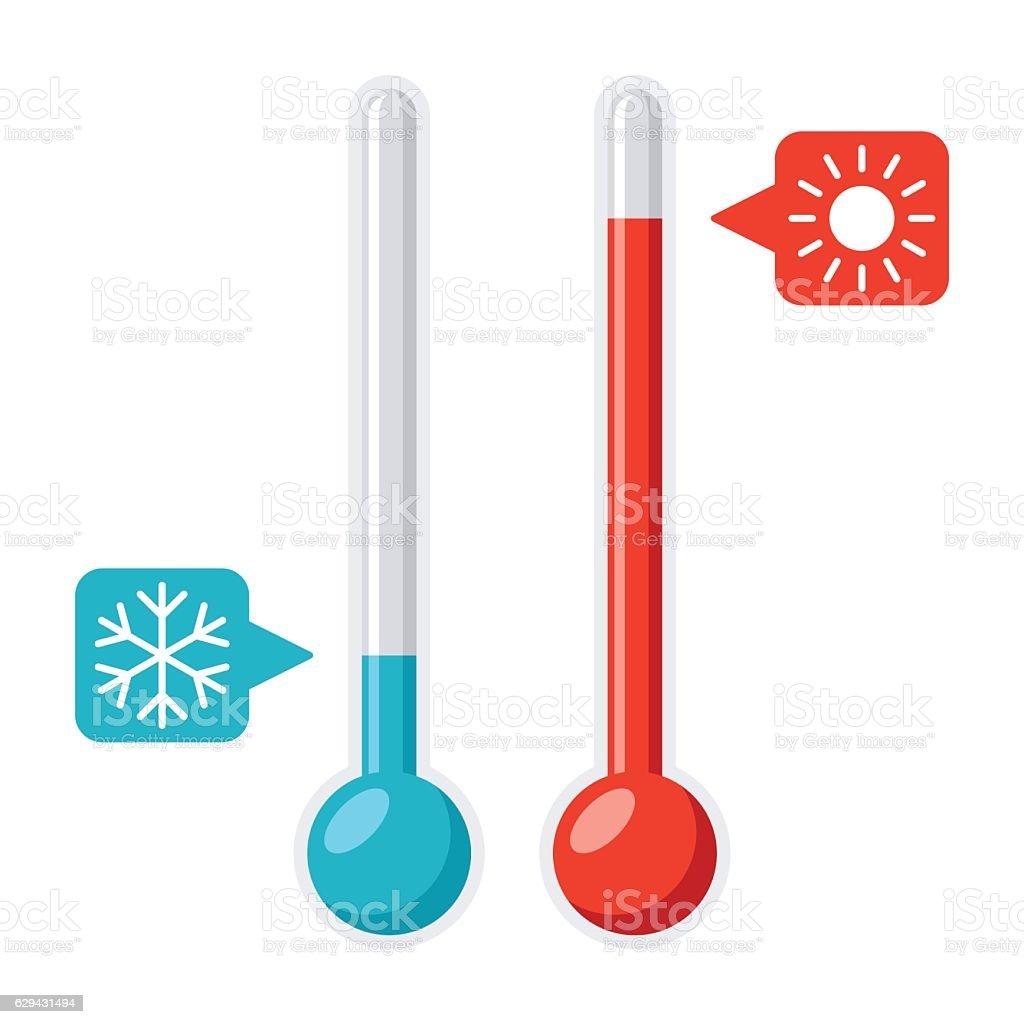 Thermometer Vector Illustration vector art illustration