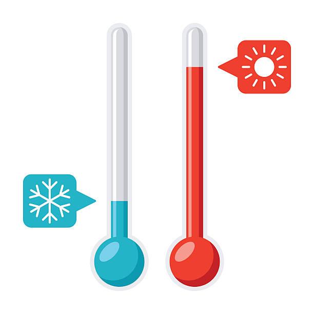 thermometer vector illustration - chłodny stock illustrations