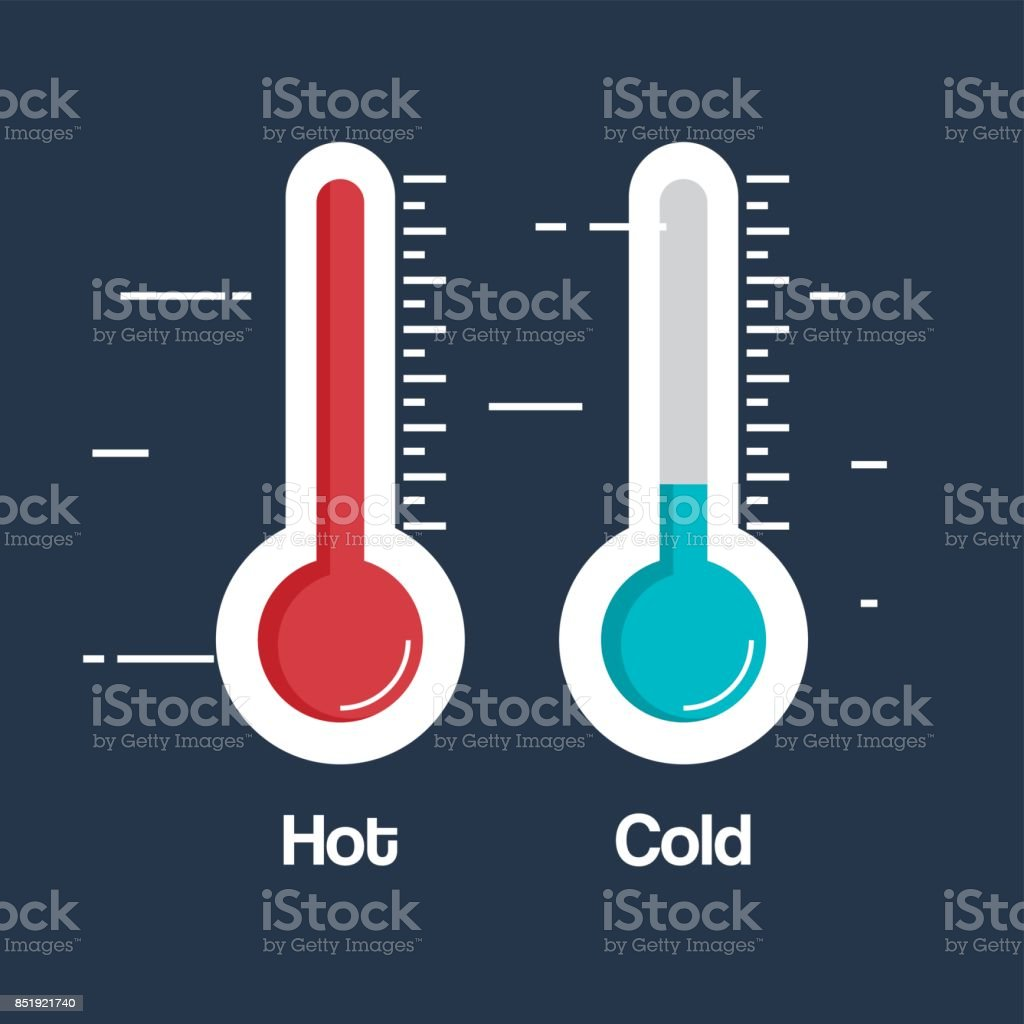 thermometer weather measure icon vector art illustration