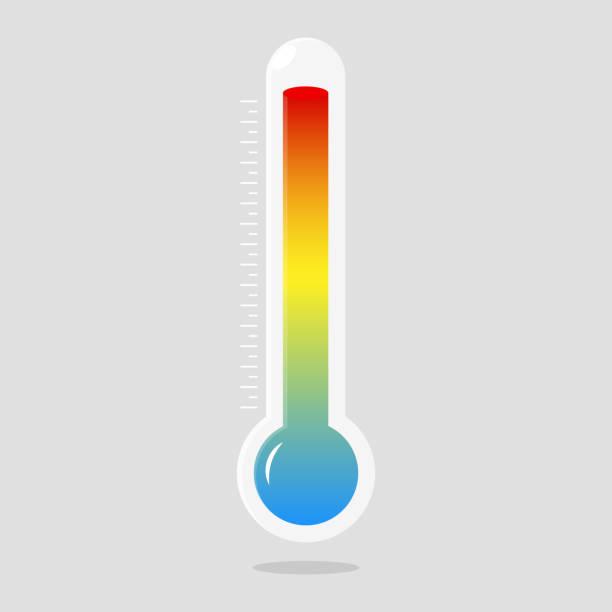 stockillustraties, clipart, cartoons en iconen met thermometers icoon met verschillende zones. vector - thermometer