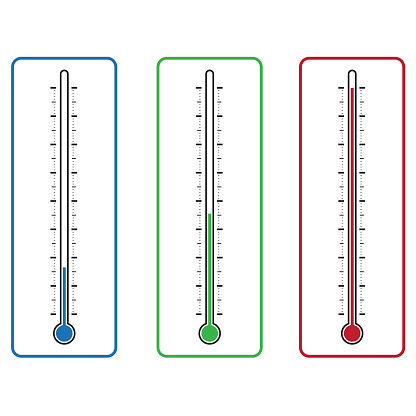 thermometers on white background vector illustration