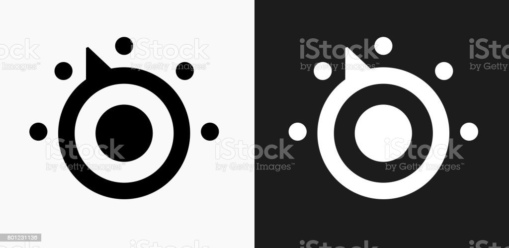 thermostat icon on black and white vector backgrounds stock vector