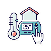istock Thermostat setting RGB color icon 1273820671