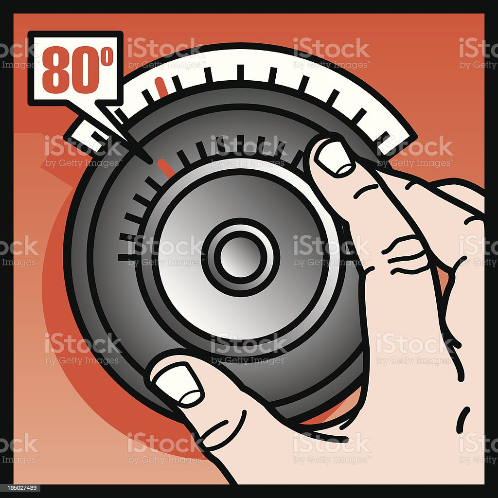 Thermostat royalty-free stock vector art