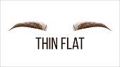 Thick Flat Brows Shape Vector Web Banner Template