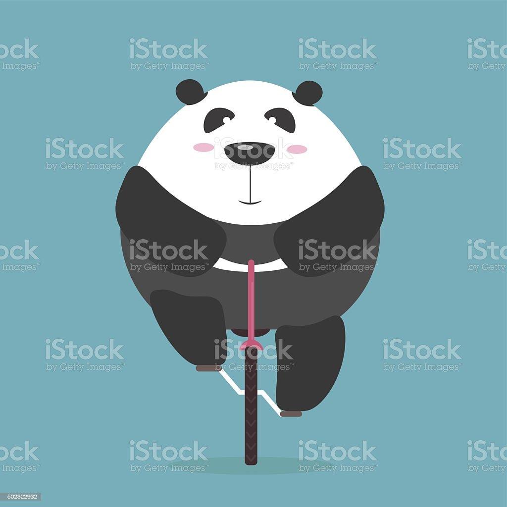 Edredon Bicicleta.Vetor De Edredons De Pandas Gigantes De Passeios De