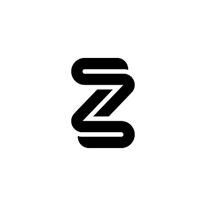 Thick Rounded Line Letter Logotype Z