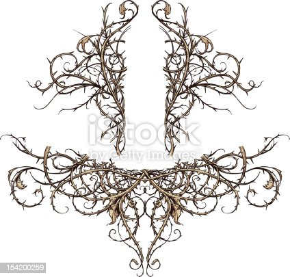 istock Thicket Scroll Design Accents 154200259