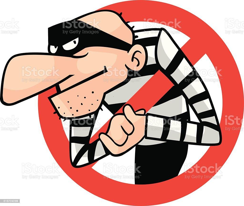 Thief block site vector art illustration