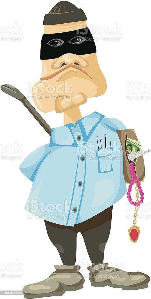 thief - criminal offence vector art illustration