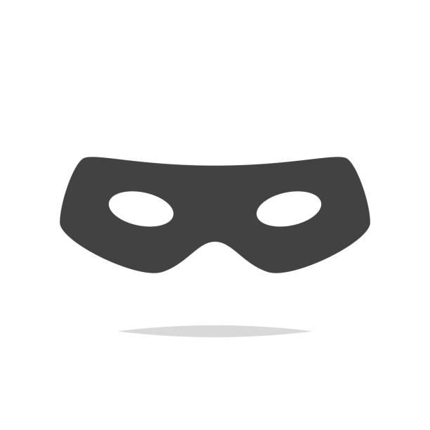 illustrations, cliparts, dessins animés et icônes de voleur yeux masque icône vecteur isolé - masque