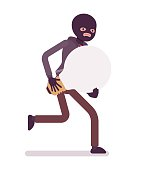 Thief is running away with stolen idea