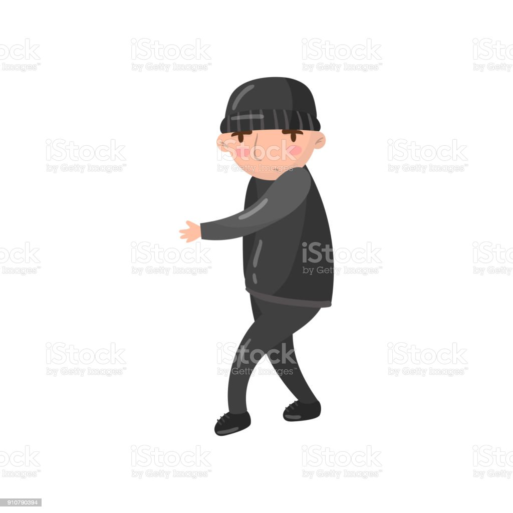 8beaee96d29 Thief Or Robber Character Cartoon Vector Illustration Stock Vector ...