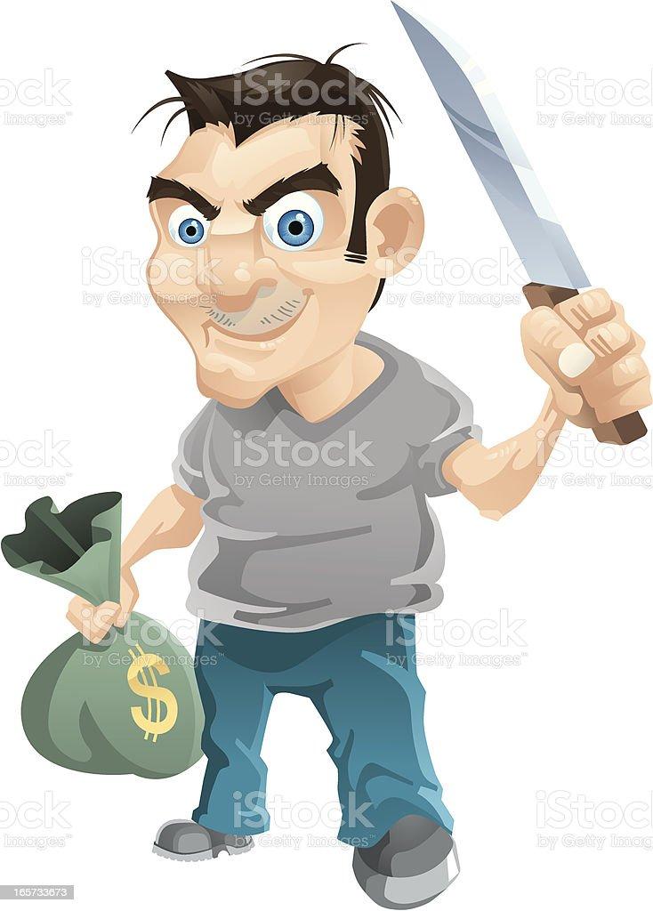 Thief royalty-free stock vector art