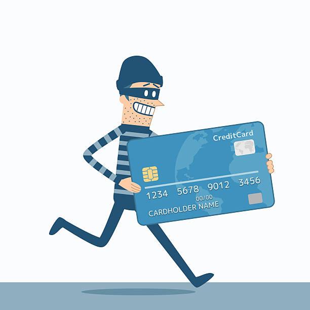 ilustraciones, imágenes clip art, dibujos animados e iconos de stock de ladrón - robo de identidad