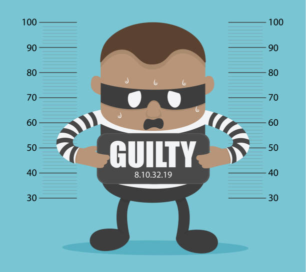Thieves arrested and confessed the truth and feel guilty Thieves arrested and confessed the truth and feel guilty police interview stock illustrations