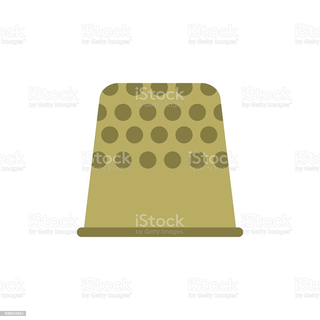Thimble flat icon vector art illustration