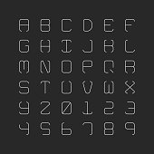 Thin Alphabet Typography Series Vector EPS File.
