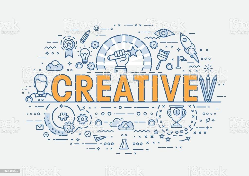 Thin Concept - Creative vector art illustration