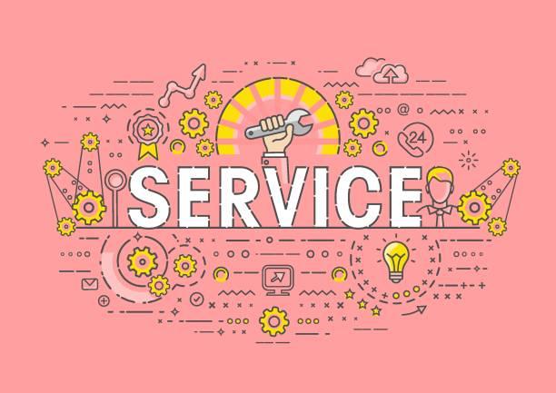 Dünne Konzept - Service – Vektorgrafik