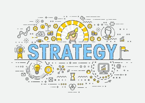 Thin Concept - Strategy vector art illustration