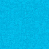 Thin Line Blue Construction Seamless Pattern. Vector Website Design and Tile Background in Trendy Modern Outline Style. Building Equipment and Tools.