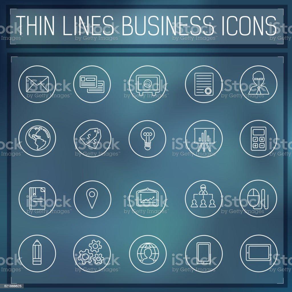 Conjunto De Iconos De Línea Fina Plantilla Web Y Aplicaciones ...