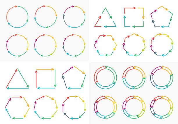 cienka linia płaski element grafika informacyjna. - rower stock illustrations