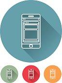 Thin Line Graphic Designer Icons: Smartphone