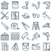 istock Thin Line Home Improvement DIY Icon 1016226712