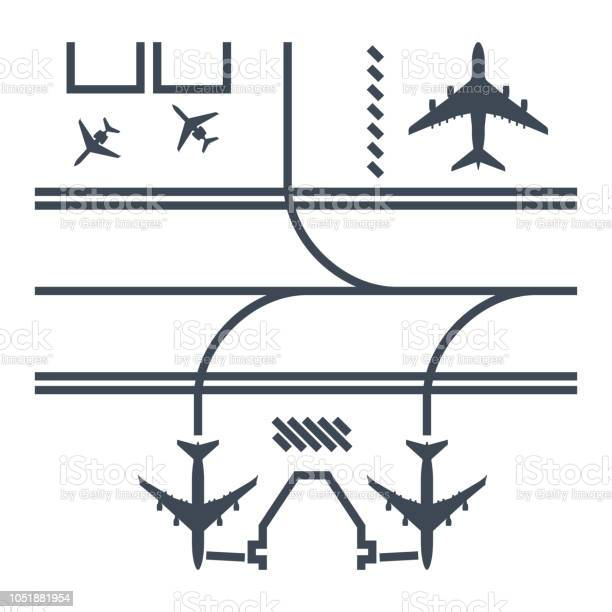 Thin line icon airport runway airplane parking vector id1051881954?b=1&k=6&m=1051881954&s=612x612&h=6vdn fx5jc9qs42bf509y4ypamccuqlwtru ofka5co=