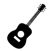 Vector illustration of musical instrument on white background. No white box behind icon. Fully editable. Simple icons. Vector eps 10 and high resolution jpg in download.