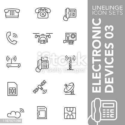 High quality thin line icons of electronic device. Linelinge are the best pictogram pack unique design for all dimensions and devices. Vector graphic, logo, symbol and website content.