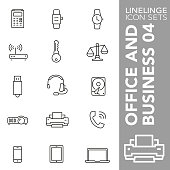 High quality thin line icons of Business and Office. Linelinge are the best pictogram pack unique design for all dimensions and devices. Vector graphic, logo, symbol and website content.