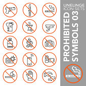 High quality thin line icons of no symbols and do not sign. Linelinge are the best pictogram pack unique design for all dimensions and devices. Vector graphic, logo, symbol and website content.