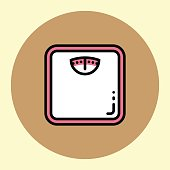 Thin Line Icon. Weight Meter.